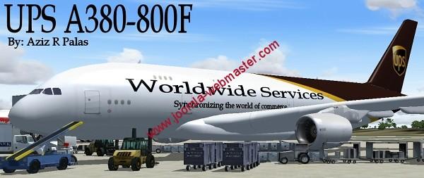 ups-airbus A 380 pour FS2004