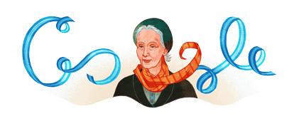 Doodle 127ème anniversaire d'Alicia Moreau de Justo