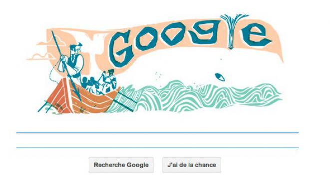 Doodle 161ème anniversaire d'apparition de Moby Dick