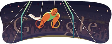 Doodle Londres 2012 anneaux Hommes