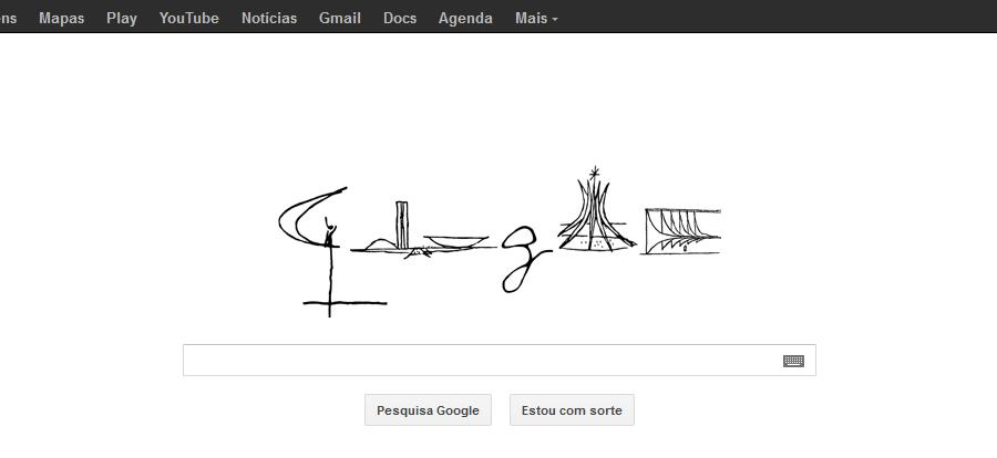 Doodle 52ème anniversaire de Brasilia
