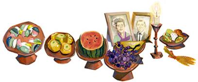 Doodle la fête du Chuseok en Corée du sud