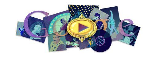 """Doodle sur Freddie Mercury """"Queen"""" sur le moteur de recherche Google"""