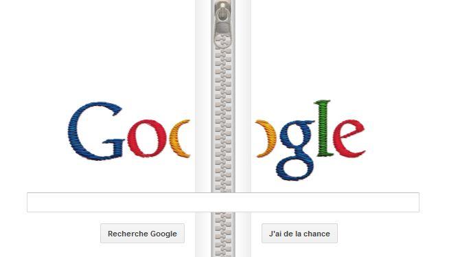 Un doodle de Google pour Gideon Sundback en fermeture éclair en vidéo