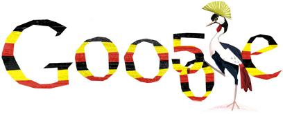 Doodle 50ème anniversaire de l'indépendance de l'Ouganda