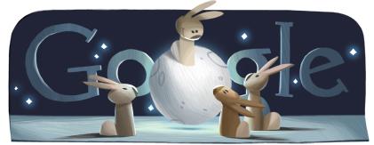 Doodle fête du mi-automne ou fête de la lune