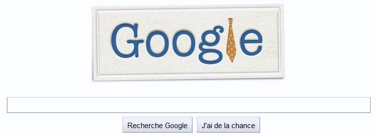 Doodle Fête des pères 2011 sur logo Google
