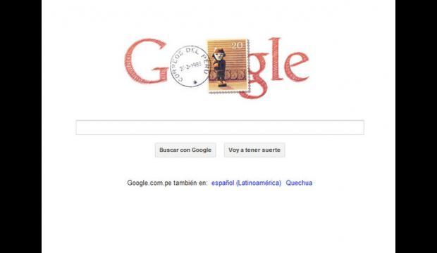 Doodle de la fête de l'indépendance du Pérou
