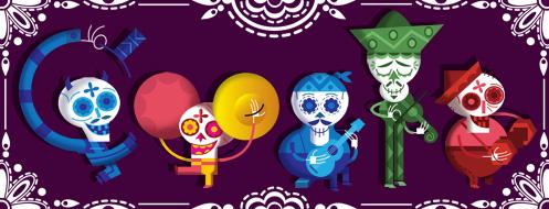 Doodle la fête des morts au Mexique