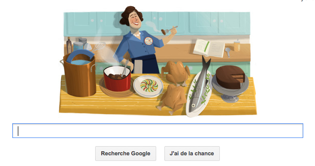 Doodle centenaire de Julia Child