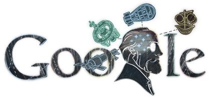 Doodle Constantin Tsiolkovsky