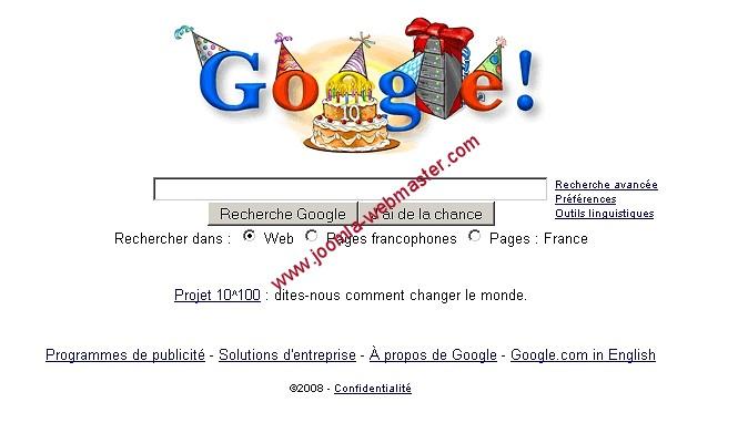 google-10-ans