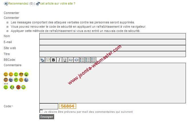 akocomment pour Joomla