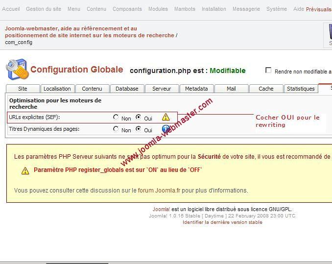 configuration.php de joomla