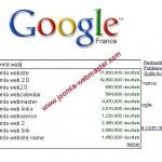 Google donne le nombre de résultat à votre requête