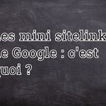 Mini sitelinks de Google