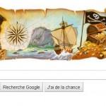 Un Doodle pour Robert Louis Stevenson