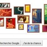 Doodle en forme de conte de Noël pour Google