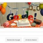 Le 13éme anniversaire Google.