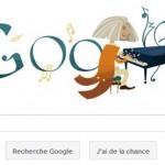 Doodle Franz Liszt par le moteur de recherche Google