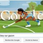 Google propose un doodle du hockey sur Gazon lors des JO de Londres