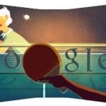 Google présent un doodle sur le Tennis de table