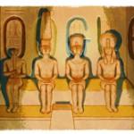 Google dans les pays d'orient rend hommage aux temples d'Abou Simbel