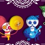 Doodle fête des morts au Mexique