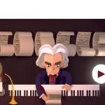 Doodle : Beethoven est né il y a 245 ans
