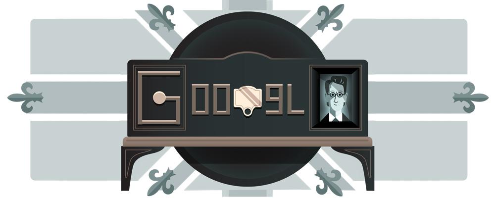 Doodle 90e anniversaire de la premiere demonstration de la television