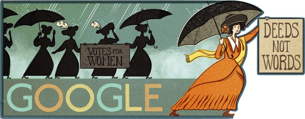 Doodle 131e anniversaire d Alice Paul