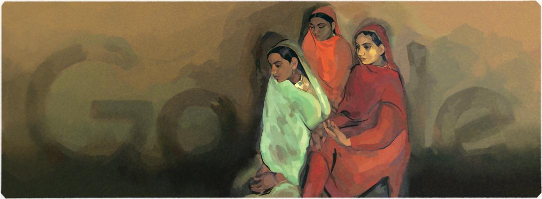 Doodle il y a 103 ans naissait Amrita Sher