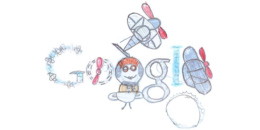 Doodle Oliver Lonsdale a remporte le Doodle 4 Google 2015 en Nouvelle Zelande