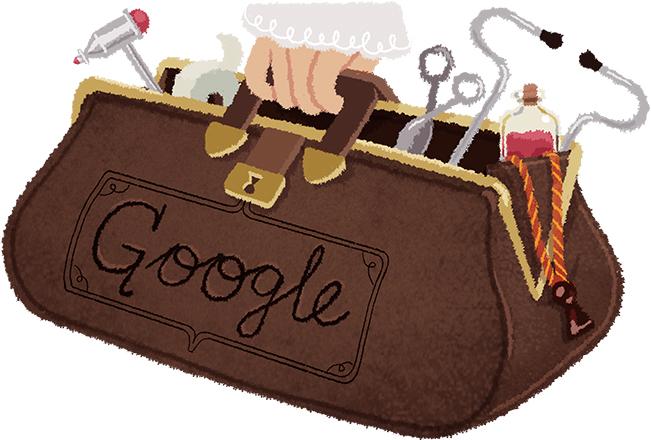 Doodle il y a 161 ans naissait Draginja Ljocic Milosevics