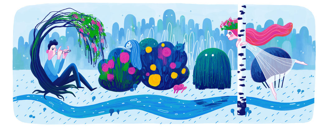 Doodle il y a 145 ans naissait Lesya Ukrainka