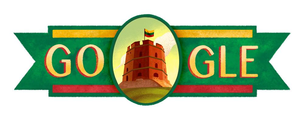 Doodle celebre la fete de l independance de la Lituanie 2016