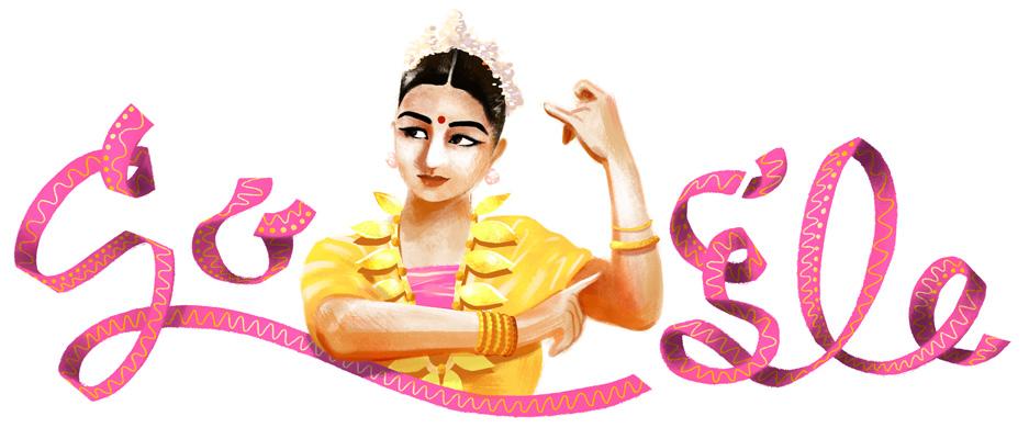 Doodle il y a 112 ans naissait Rukmini Devi