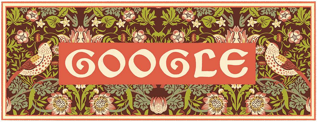 Doodle il y a 182 ans naissait William Morris
