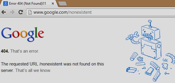 Une solution contre l'erreur 404 proposée par Internet Archive sur Google Chrome